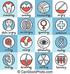 Medical Icon Set - Medical sketch icon set with stomatology ...