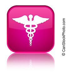 Medical icon special pink square button