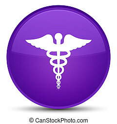 Medical icon special purple round button
