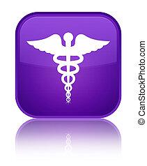 Medical icon special purple square button