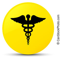 Medical icon yellow round button