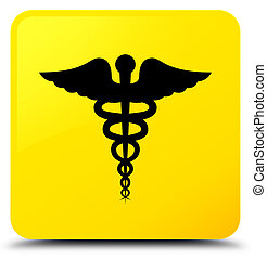 Medical icon yellow square button
