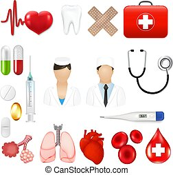 Medical Icons And Equipments Tools