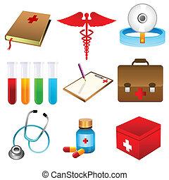 medical icons - illustration of medical icons on white...