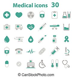 Medical Icons - green color