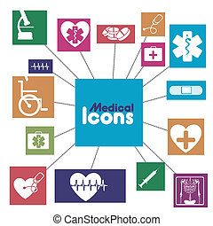 medical icons infographics