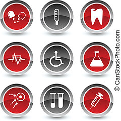 Medical icons. - Medical icon set. Vector illustration.