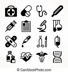 Medical icons on white
