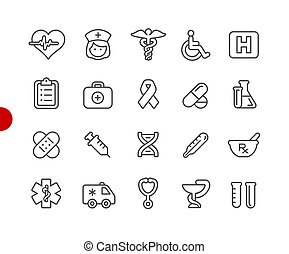 Medical Icons // Red Point Series