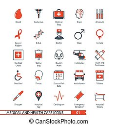 Medical Icons Set 01 - Medical and Health Care Icons Set 01