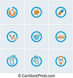 Medical Icons Set - Blue-Orange vector set of medical web...