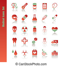 Medical icons set - Illustration vector