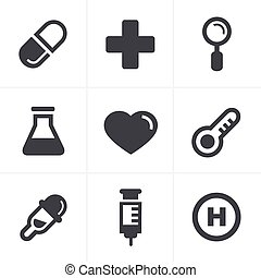 Medical Icons Set, Vector Design