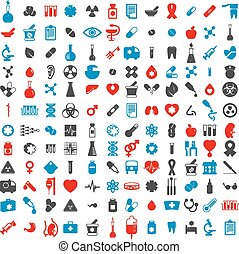 Medical icons set, vector set of 14