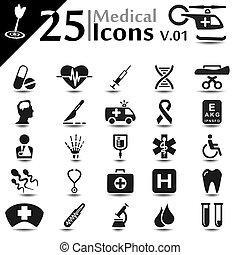 Medical Icons v.01 - Medical icons set, basic series
