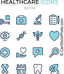 Medical icons. Vector line icons set. Premium quality. Simple thin line design. Modern outline symbols, pictograms