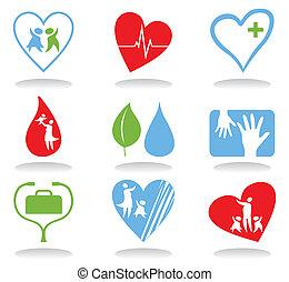 Medical icons4 - Collection of icons on a medical theme. A...