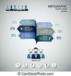 Medical Infographic Design set.  gr