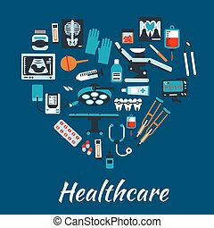 Medical infographic poster background