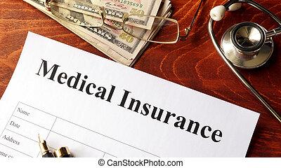 Medical insurance policy. - Medical insurance policy on a...
