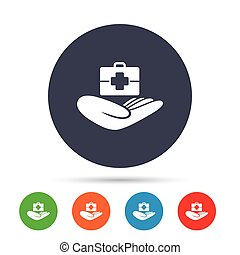 Medical insurance sign. Health insurance.