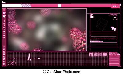 Medical interface showing virus