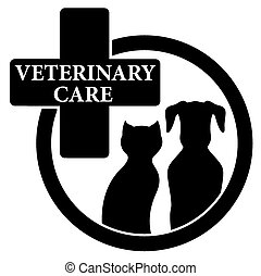 isolated black icon with veterinary