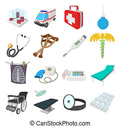 Medical isometric 3d icons