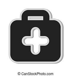 medical kit cross icon
