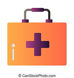 medical kit degradient style icon