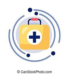 medical kit detaild style icon