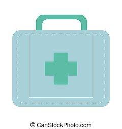 medical kit flat style icon