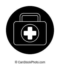 medical kit isolated style icon