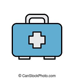 medical kit line and fill style icon