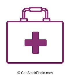 medical kit line style icon