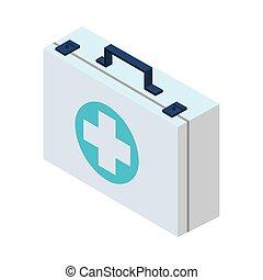 medical kit medicine isolated icon