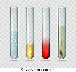 Medical lab test tubes. Testing tube set vector illustration...