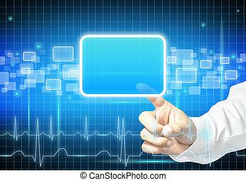 Medical label template - Black and blue modern medical label...