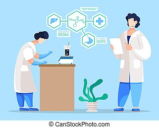 Medical Laboratory Research and Experiments Vector