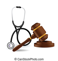 medical law concept illustration design over a white...