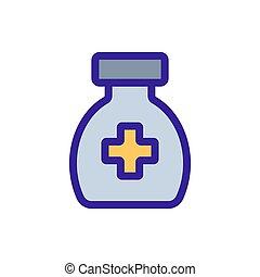 Medical lectesvo icon vector. Isolated contour symbol illustration