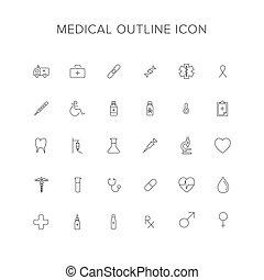 Medical Line Icon Set