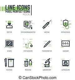 Medical line pixel items