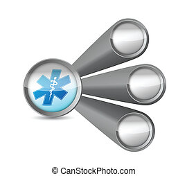 medical links illustration design