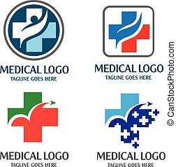 Medical logo concept - it has a modern feel as geometrical...