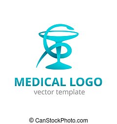 Medical logo modern abstract emblem - Medical logo for ...