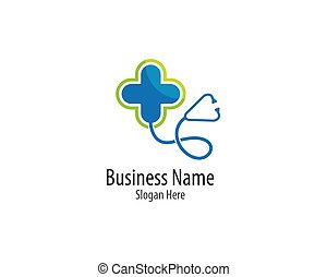 Medical logo template vector icon illustration