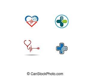 Medical logo template vector icon