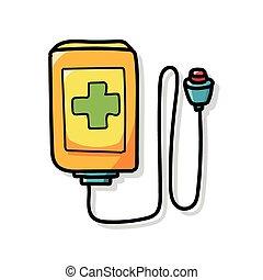 medical machine color doodle
