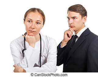 Medical malpractice - Doctor and her lawyer thinking about...